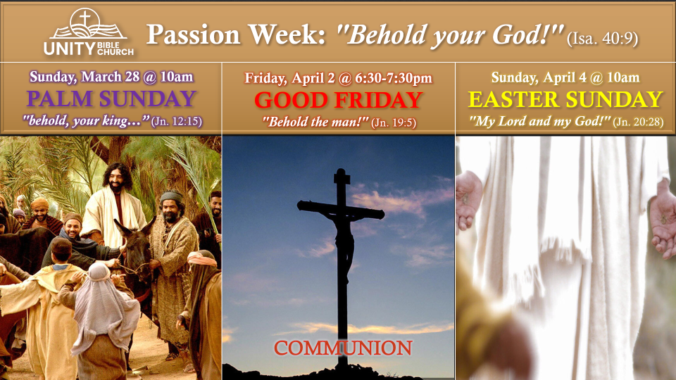 Passion Week Schedule